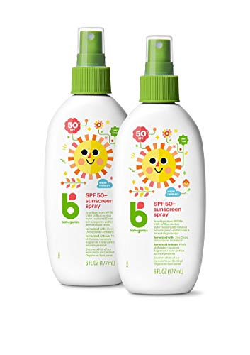 Babyganics Sunscreen Spray 50 SPF,6 Fl Oz (Pack of 2)