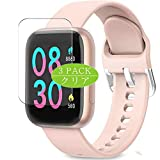VacFun 3 Piezas Claro Protector de Pantalla, compatible con AIMIUVEI A4 smartwatch Smart Watch, Screen Protector Película Protectora(Not Cristal Templado)
