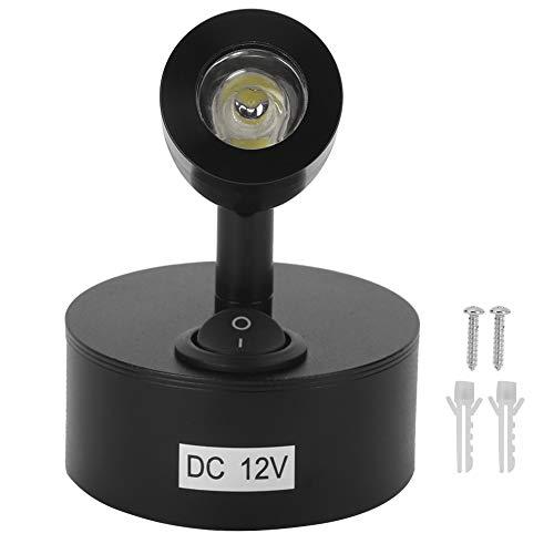 Lámpara de lectura, 12V 3W LED Spot Light Switch Lámpara de lectura de cabecera RV Barco Autocaravana para camiones Caravana Camper(Blanco cálido)