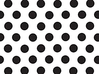 Black and White Polka Dot Tissue Paper - 20 Inch x 30 Inch - 24 XL Sheets HIgh Quality Paperr Made in USA