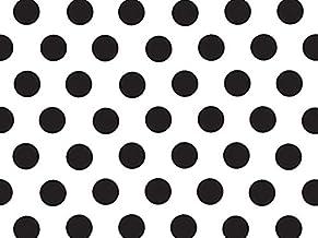 Black and White Polka Dot Tissue Paper - 20 Inch x 30 Inch - 24 XL Sheets Premium Paper