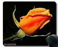 YENDOSTEENマウスパッド、フラワーローズ夏の庭の花びらクローズアップブロッサムマウスパッドステッチエッジ