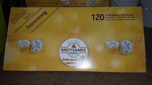 Breitsamer Honig feincremig in praktischen Portionen 120 x 20 Gr.