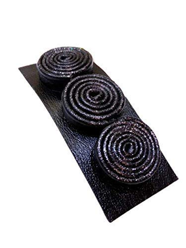 Black leather hair clip handmade a Ranking integrated 1st place minimalist style Large special price !! in