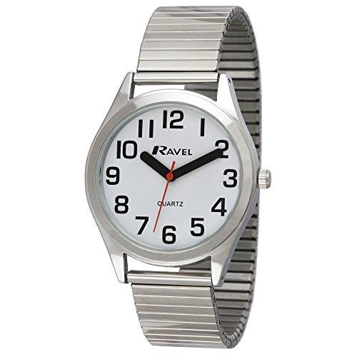 Ravel Herren Analog Quarz Uhr mit Edelstahl Armband R0225.01.1