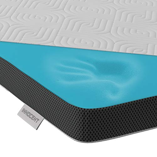 INNOCENT® Gel-Schaum Tencel Topper 200 x 200 cm | 3D-Air-Flow | Viskoelastische Matratzenauflagen 5cm Höhe | Memory Foam Matratzenschoner | für Matratzen & Boxspringbett gegen Rückenschmerzen
