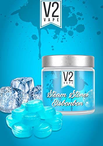 V2 Vape Shisha Steine Eisbonbon - Steam Stones Dampfsteine 250gr 0mg nikotinfrei