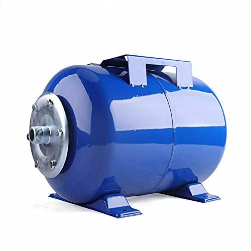 Bomba de almacenamiento a presión de 24 l, acero al carbono para instalaciones de agua domésticas, acero al carbono, membrana de caucho natural, ocupa poco espacio