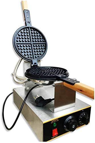 XinMeiMaoYi Tostadora de sándwich de Acero Inoxidable Waffle Maker Puff Eggettes Cake Maker para Uso doméstico y Comercial Heladera
