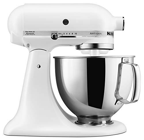 KitchenAid KSM150PSFW Stand Mixers, 5 Qt, Matte White