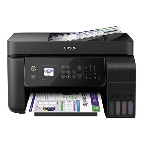 Epson EcoTank ET-4700 4-in-1 Tinten-Multifunktionsgerät (Kopierer, Scanner, Drucker, Fax, DIN A4, ADF, WiFi, Ethernet, Display, USB 2.0), großer Tintentank, hohe Reichweite, niedrige Seitenkosten