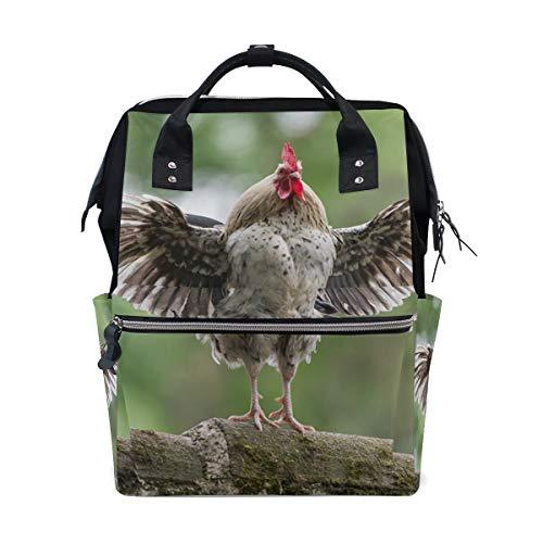 Sac à dos à langer avec ailes de coq pour maman - Grande capacité - Sac de voyage pour femme - Sac à dos d'école pour ordinateur portable - Sac de randonnée