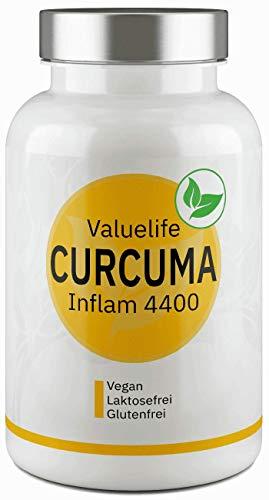 Curcuma Komplex - Curcuma, Curcumin, Weihrauch, Myrrhe, Vitamine C & E - Max. Bioverfügbarkeit durch Bioperine - hochdosiert, vegan von VALUELIFE