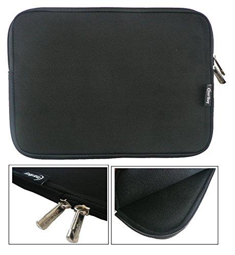Emartbuy® Schwarz Wasserdicht Neopren weicher Kasten Sleeve Mit Schwarz Interieur&Zip geeignet für Acer Aspire One AO1-131 Cloudbook 11.6 Zoll (11.6-12.5 Zoll Tablet Chromebook Laptop)