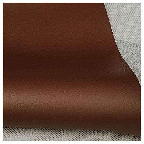 Tela de Imitación de Cuero Tapicería de Cuero Sintético de Color Marrón Rojizo Material Texturizado Material Resistente al Fuego Ignífugo, Forro del Automóvil - 1 Metro 100 Cm X 138 Cm(Size:1.38x2m)
