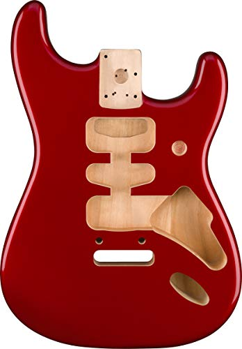 Fender Deluxe Series Stratocaster® HSH Alder Body 2 Point Bridge Mount, Candy Apple Red