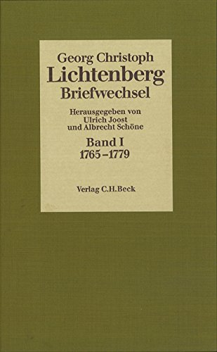 Briefwechsel, 4 Bde., Bd.1, 1765-1779