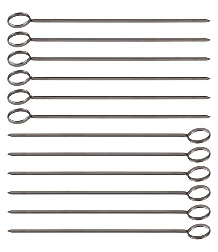 10-Inch Long Stainless Steel Skewers