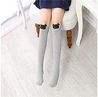 Lovely Socks Children Cotton Mesh Socks Kids Spring and Autumn Stripe Patterns Mid Tube Stocking(White) Newborn Sock (Color : Grey)