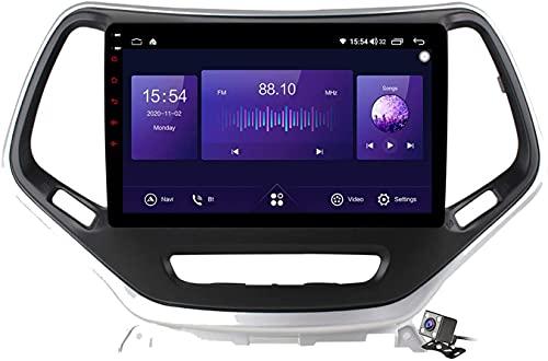 YIJIAREN Android 10.0 Navigazione GPS Autoradio per Je-EP Cherokee 2014-2019 IPS Schermo tattile Autoradio Stereo Supporta Il Controllo del Volante BT Mirror-Link 4G WiFi