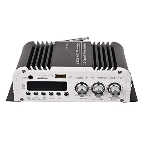 DAUERHAFT Amplificador estéreo para automóvil HY-118 2.1CH para computadora, teléfono móvil, MP3, DVD
