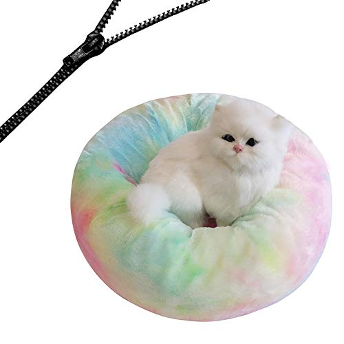 Mdsgfc Detachable Dog Bed With Zipper Cat House Washable Cushion Sofa Kennel For Cats Round Mat Thicken Plush Waem 15 50cm
