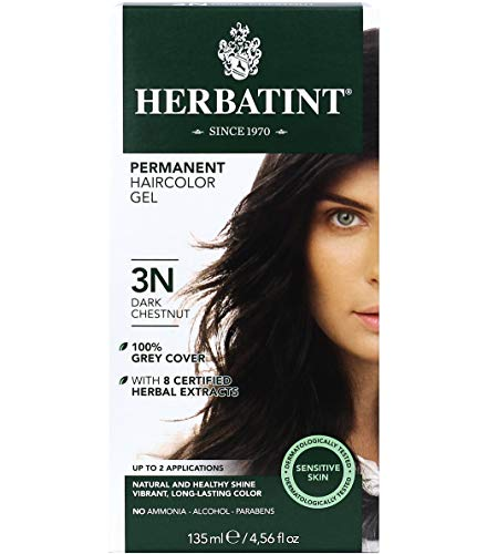 Herbatint Permanent Haircolor Gel, 3N Dark Chestnut, 4.56 Ounce