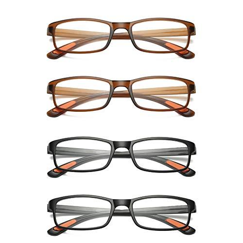 L-LIPENG - Gafas de lectura antiBlu-ray (4 unidades)