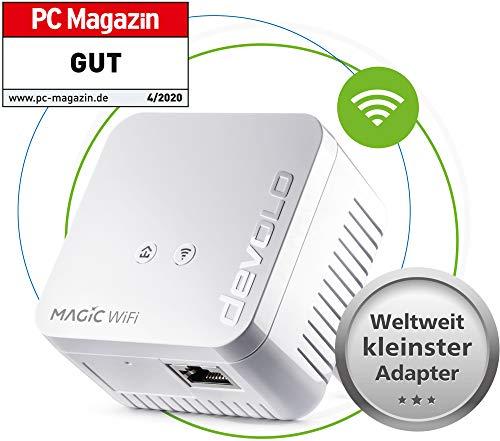 devolo Magic 1 WiFi mini: Ideal für Home Office und Streaming, Erweiterungs Adapter für zuverlässiges WLAN einfach via Stromleitung durch Wände und Decken, Mesh, G.hn-Technologie