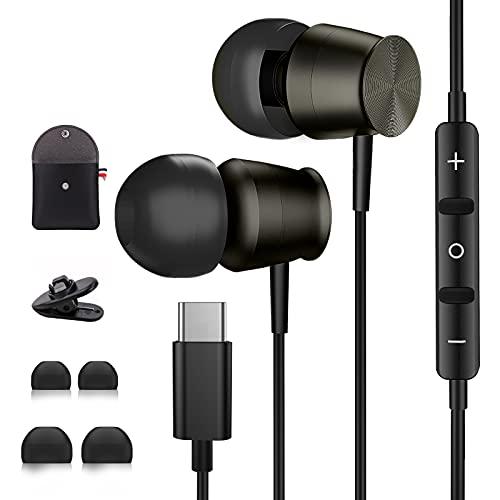 Auricolari USB C con Microfono AILZPXX Cuffie USB C per Samsung S21 S20FE Cuffie Tipo C con Cancellazione del Rumore Auricolari In-Ear Tipo C Compatibile con Galaxy Z Flip 3 Huawei P50 P40 Pro OnePlus
