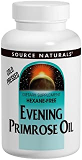 Source Naturals Evening Primrose Oil, Hexane-Free Excellent Source of Important Fatty Acids, 30 Softgels, Pack of 2