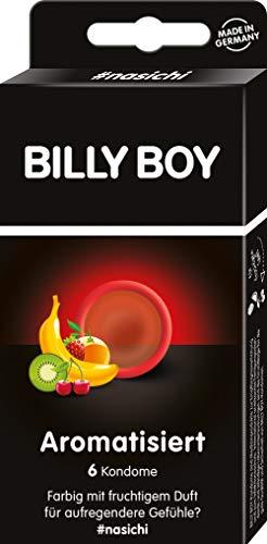 Billy Boy Aromatisiert 6er - rote und schwarze Kondome mit fruchtigem Duft: