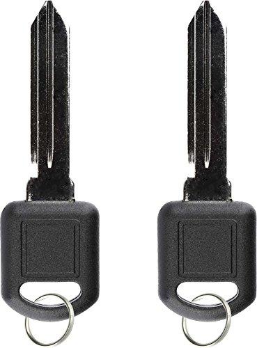 KeylessOption Replacement Uncut Ignition Car Chip Key Transponder For GM Chevy Pontiac PK3, B97-PT (Pack of 2)