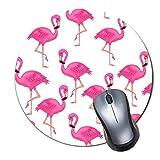 2er-Pack Dickes Gummi-Mauspad in Premium-Qualit?t Rundes Mauspad mit weichem Tragekomfort Gaming-Mauspad von ROOMBA-Flamingo Tapeten