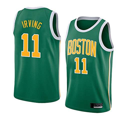 Jerseys De Baloncesto Para Hombres, Boston Celtics # 11 Kyrie Irving Camisetas De Chaleco Deportivo Casual De La NBA, Camisetas Sin Mangas Tops Sueltas Uniformes De Baloncesto Para Fanáticos,Verde