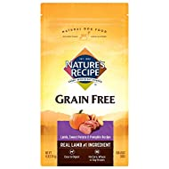 Nature's Recipe Grain Free Easy to Digest Dry Dog Food with Real Meat, Sweet Potato & Pumpkin
