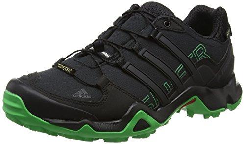 Adidas Terrex Swift R GTX, Zapatos de Senderismo para Hombre, Negro (Core Black/Energy Green), 41 1/3