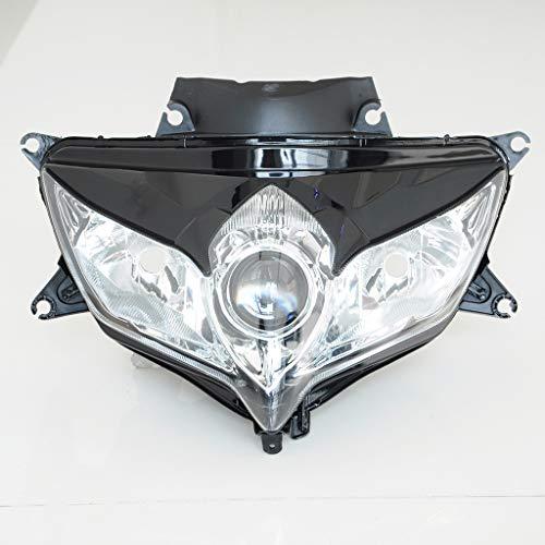 Wotefusi Lampe Frontale Neuf Headlight pour Moto Suzuki GSXR600 GSXR750 K8 2008 2009 2010 Ampoule Non Fournie