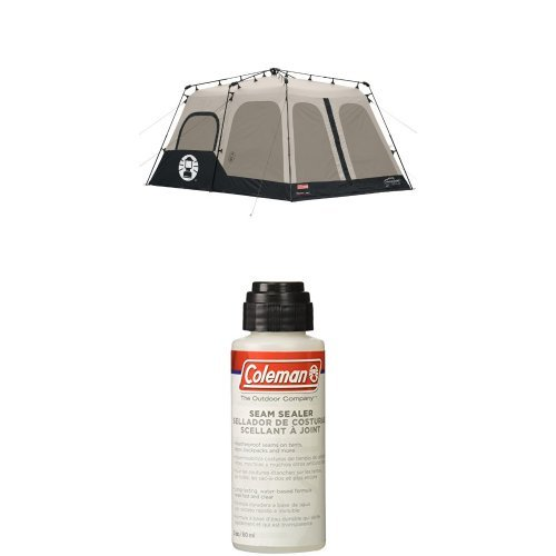 Coleman Instant 8 Person Tent, Black, 14x10-Feet with Seam Sealer, 2-oz