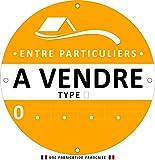 Panneau immobilier A VENDRE Rond – Personnalisable – Visibilité optimale - Diam. 60 cm - 4 œillets métalliques – AKILUX® 3.5 mm - (JAUNE)