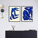 KWzEQ Decoración del hogar Impresión de Lienzo Arte de la Pared Imagen Póster Mural de carácter Abstracto Decoración de la Sala de Estar,80X120cmx2,Pintura sin Marco