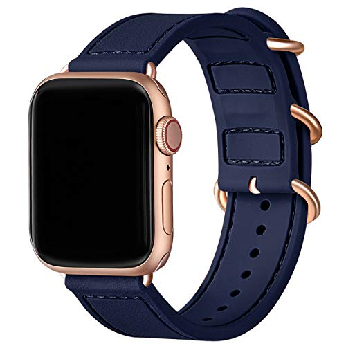 BesBand Correa de reloj deportivo compatible con Apple Watch Band 40 mm 38 mm 44 mm 42 mm para mujeres hombres y hombres Correa de repuesto para iWatch Series 5/4/3/2/1 42mm 44mm