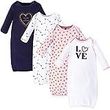 Hudson Baby Unisex Cotton Gowns, Love, 0-6 Months
