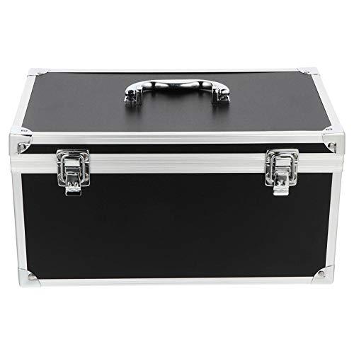 Doitool, Custodia rigida in alluminio, valigetta degli attrezzi con inserto in schiuma rigida, portatile, 57 x 31 cm, colore nero