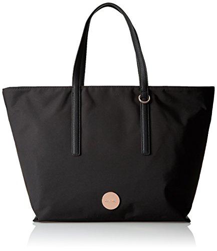 Calvin Klein ED1TH Large Tote, Bolsa para Mujer, Negro (Black), 15x33x54 cm (b x h x t)