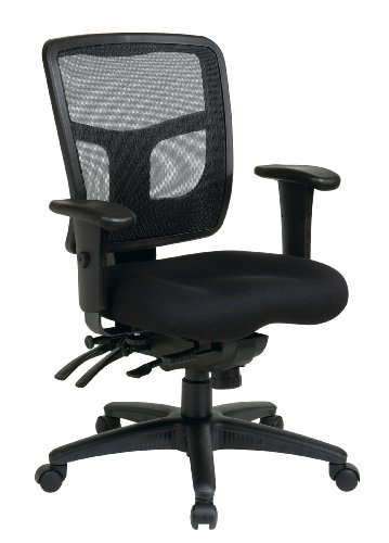 Office Star Mid Back ProGrid Back FreeFlex Seat with Adjustable Arms and Multi-Function and Seat...
