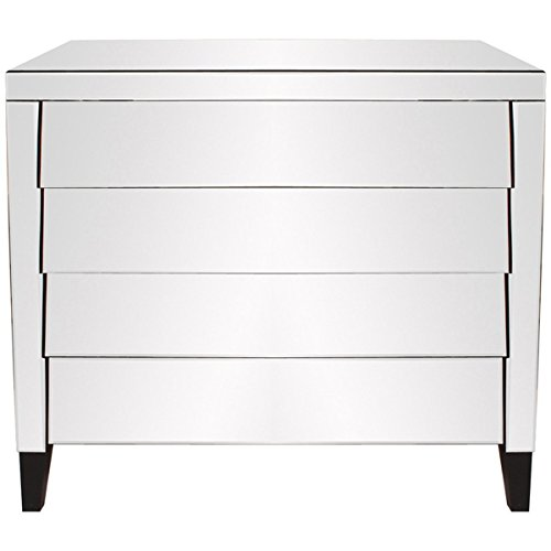 Howard Elliott Mirrored Dresser, 4-Drawer