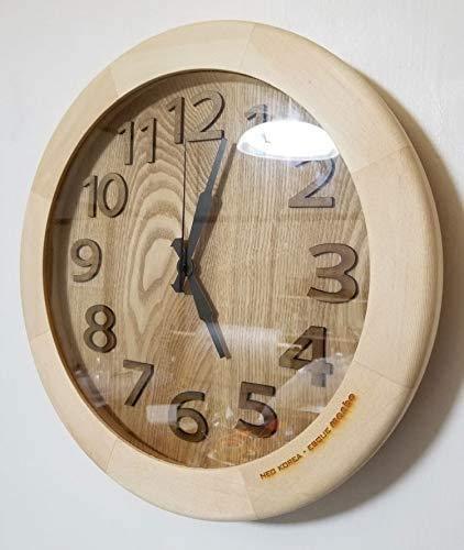 電波掛け時計 ハンドメイド木製電波掛け時計400-walnut 壁掛け時計 おしゃれ 掛時計 北欧 時計 インテリア