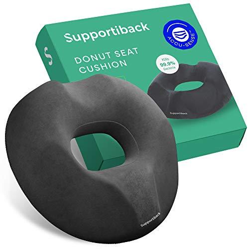Supportiback Cojín Circular para Sentarse | Alivio para Las hemorroides, la próstata, Dolores Postparto, Operaciones o úlceras