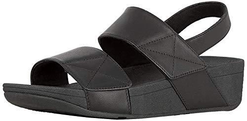 FitFlop women's MINA BACK-STRAP SANDALS, Black, 8 M US